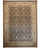 RugStudio presents ORG 16/18 Shah Abbas 152 Black - Beige Hand-Knotted, Good Quality Area Rug